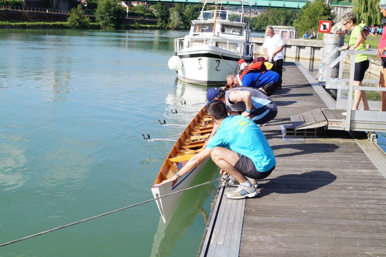 Ici, le ponton pour mettre les bateaux à l'eau.