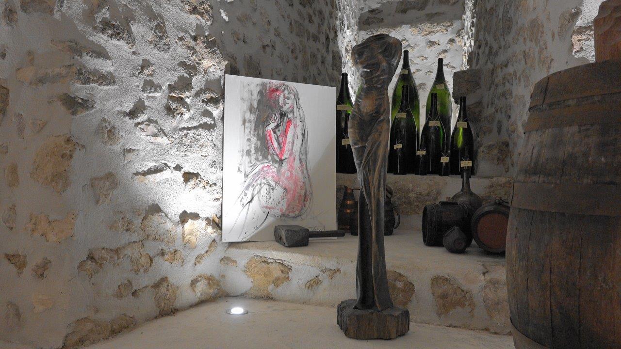Une expo à réveiller les vieux outils viticoles collectés par Franck Météyer...