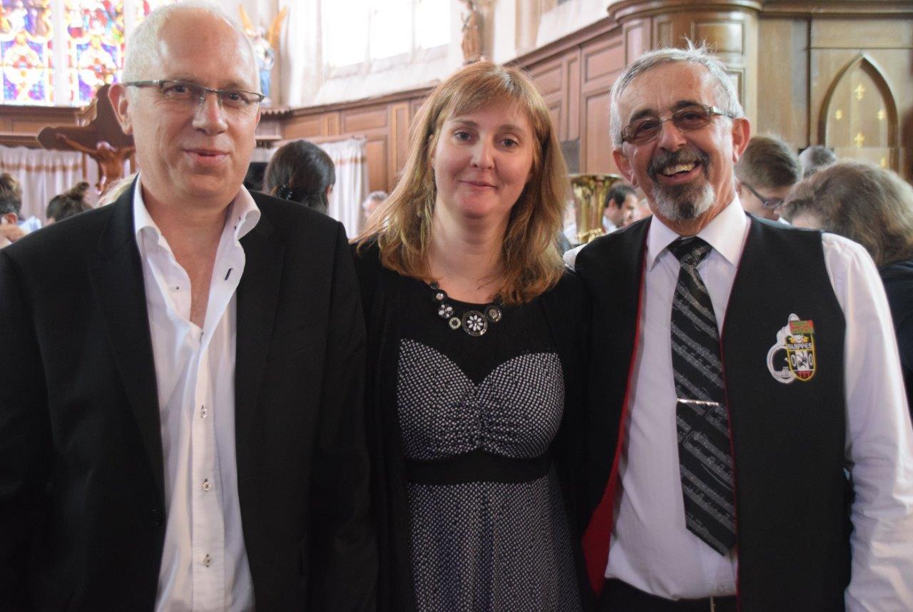 De gauche à droite : José Luton, Christelle Bray et Roland Bouverot.