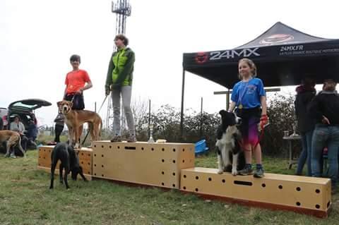 Le 29 mars 2018, Clémentine et H'Zeus terminent  sur la 3ème marche du podium au classement scratch (garçons et filles) du canicrosss organisé par le Club des Cani-n'Furious (78).