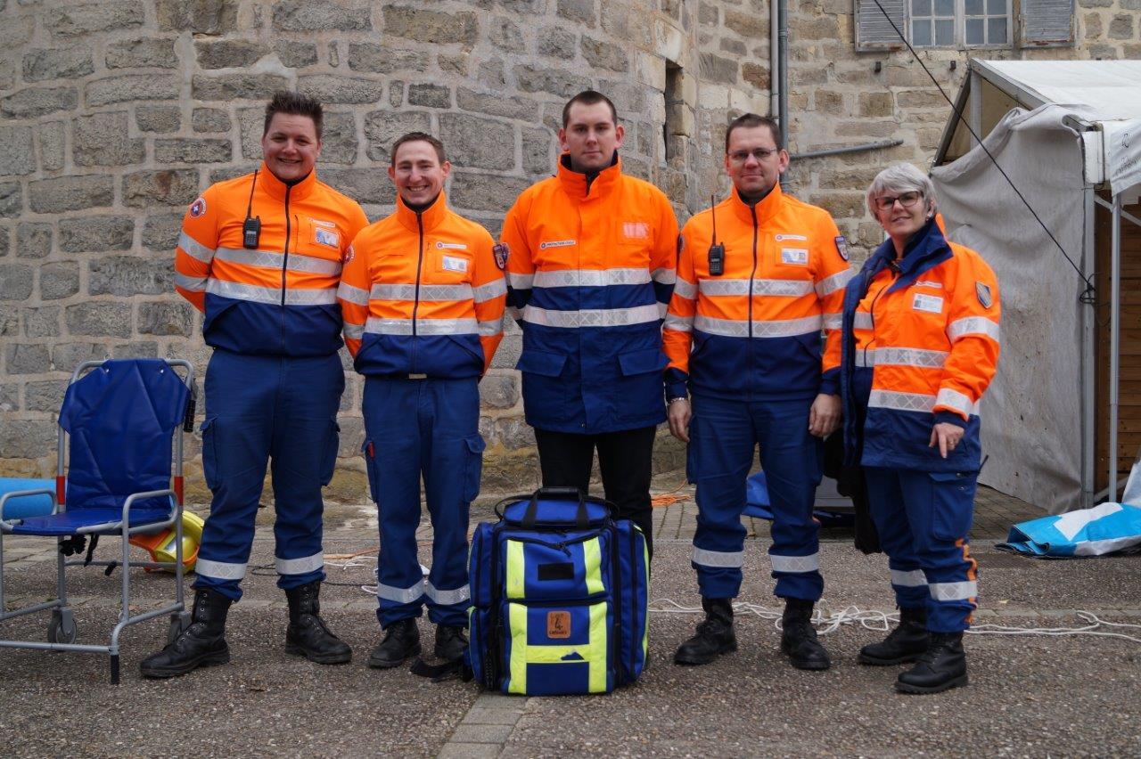 Les secouristes de la Protection civile de la Marne (antenne de Châlons-en-Champagne) ont soigné quelques bobos.