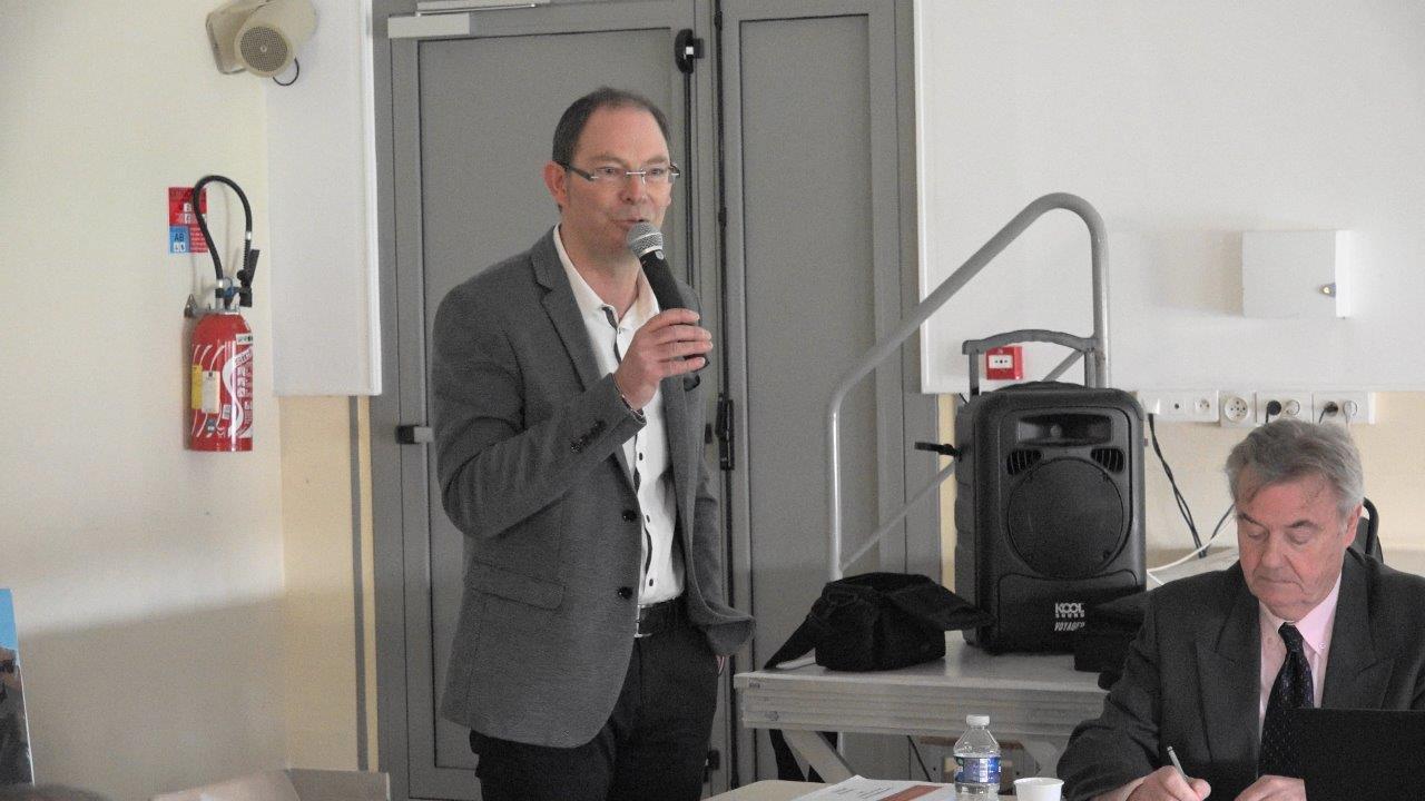 Au micro : Yves Coquel, président de TFBCO.
