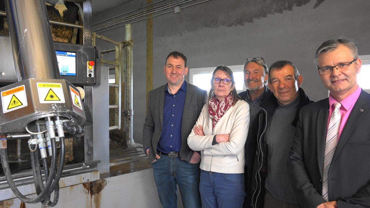 De gauche à droite : Olivier Picart, Anne Maricot, Pierre Troublé, Bruno Lahouati et Ronan Léaustic.
