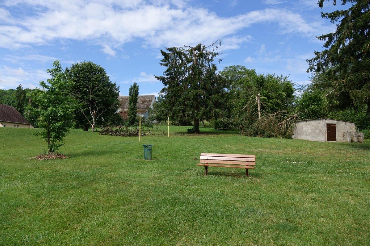 Le parc arboré de la mairie du bourg centre de Condé-en-Brie a désormais mauvaise mine.