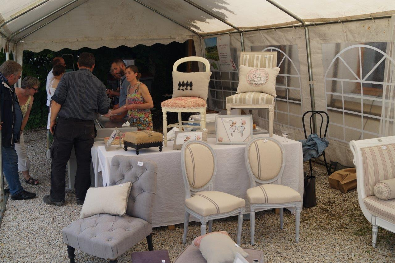 Le marché de producteurs et d'artisans d'art est toujours apprécié par les visiteurs...