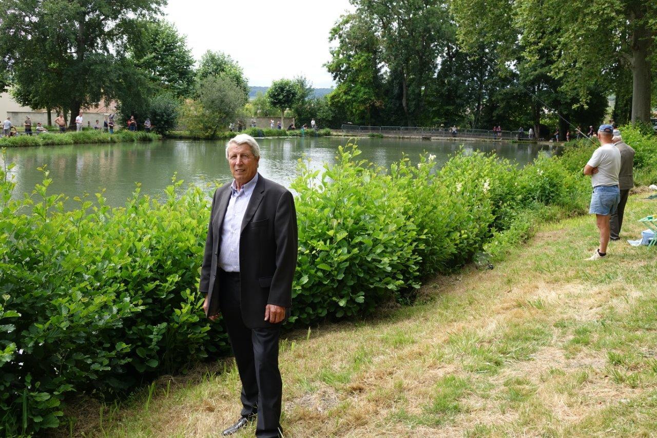Denis Van Gysel, président de l'association de pêche La Vandoise, a supervisé comme à l'habitude la pêche républicaine du 14 juillet...