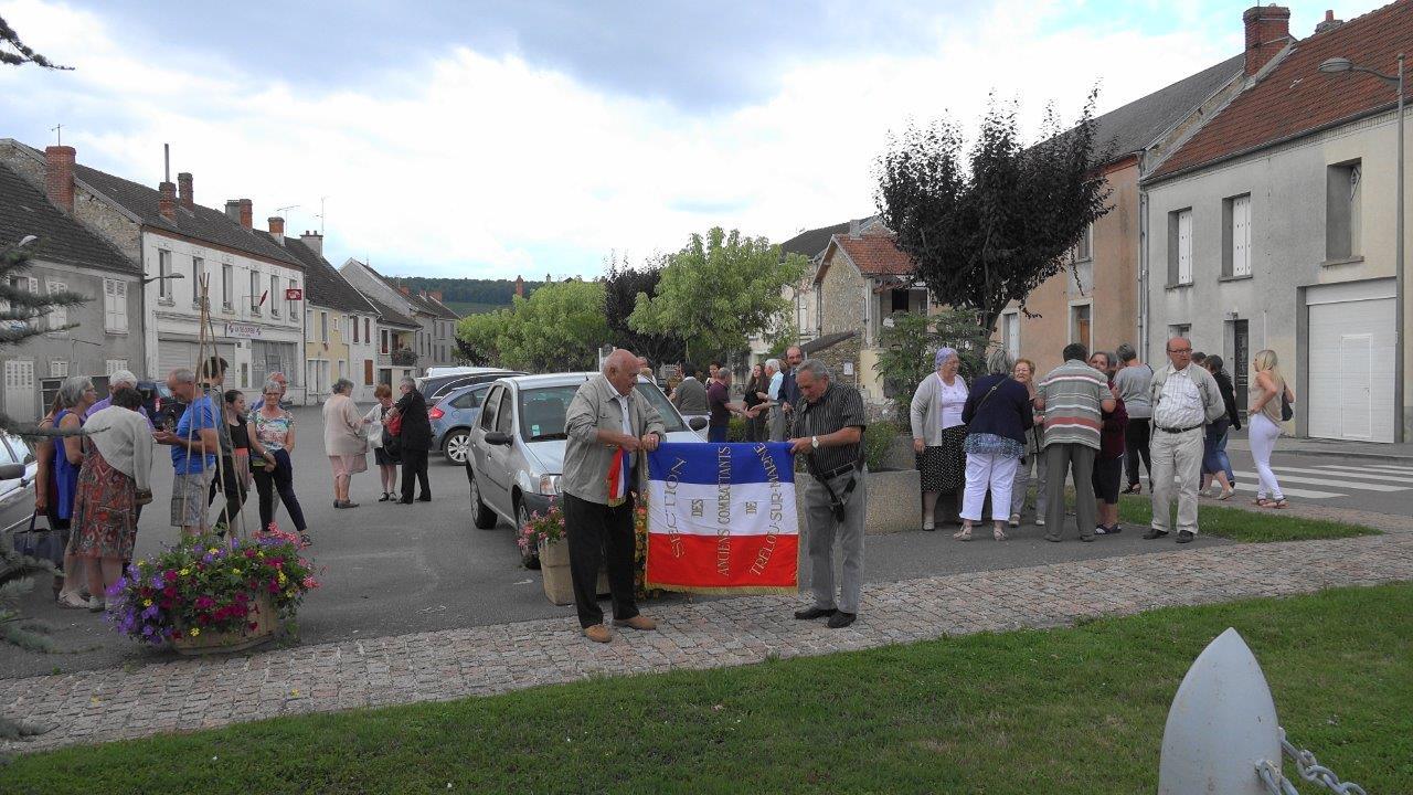 La section des Anciens Combattants de Trélou-sur-Marne était présente à la cérémonie du 14 juillet.