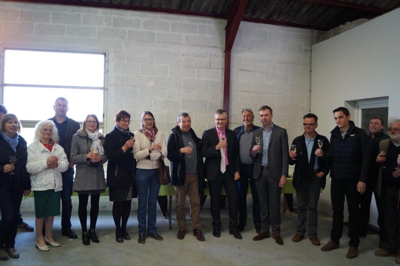 La photo de groupe au terme de la visite.