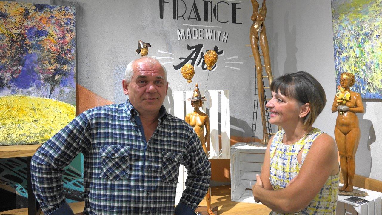 Le sculpteur polonais Jacek Sumeradzki expose au Champagne Météyer jusqu'au 30 juin 2017.
