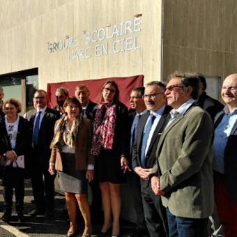 Inauguration de la nouvelle école à Courtemont-Varennes.