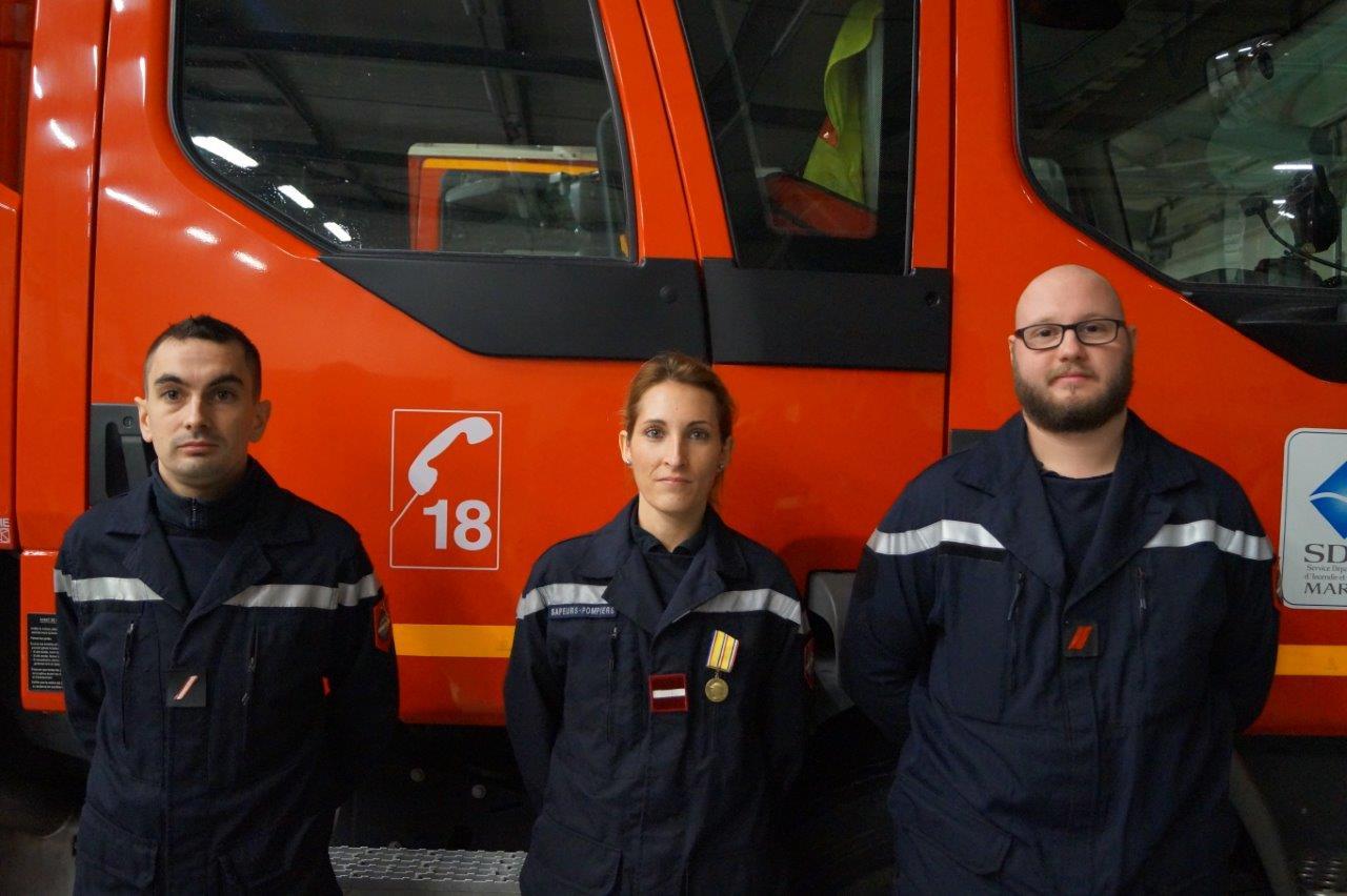 De gauche à droite : Emilien Chatelain, Flavie Hennequin et Charles Parmentier sont les récipiendaires de la Sainte-Barbe 2018.