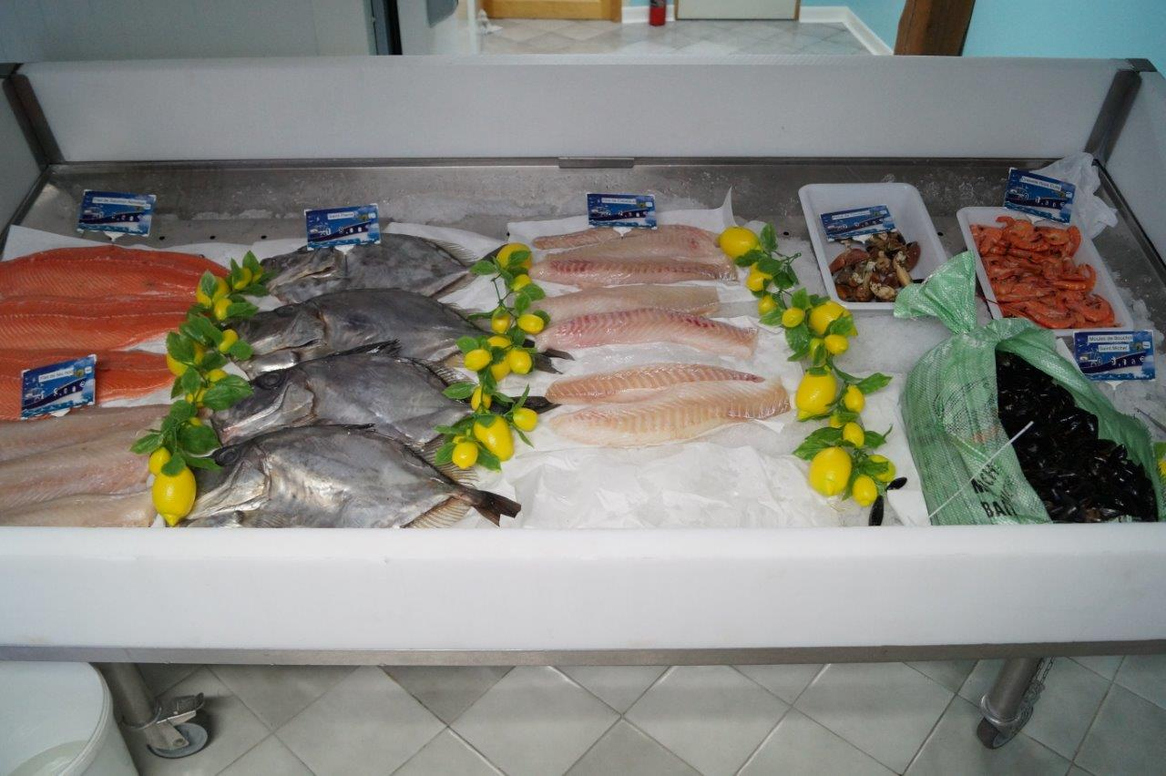 Le poisson arrive chaque matin de Bretagne.
