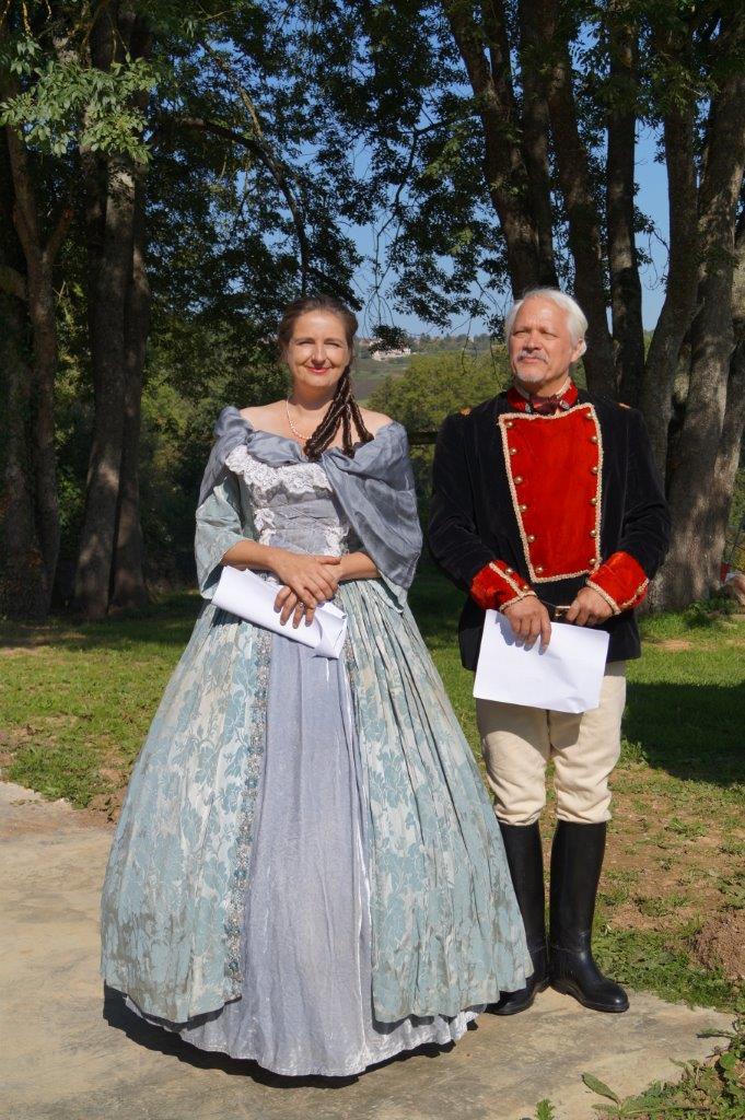De gauche à droite : l'impératrice Eugénie et Napoléon III.