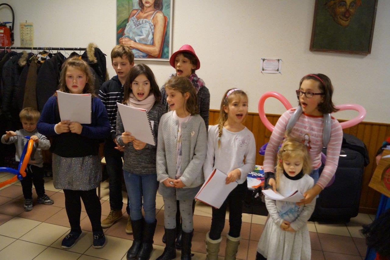 Montée pour l'occasion, la chorale des enfants a rencontré un beau succès.