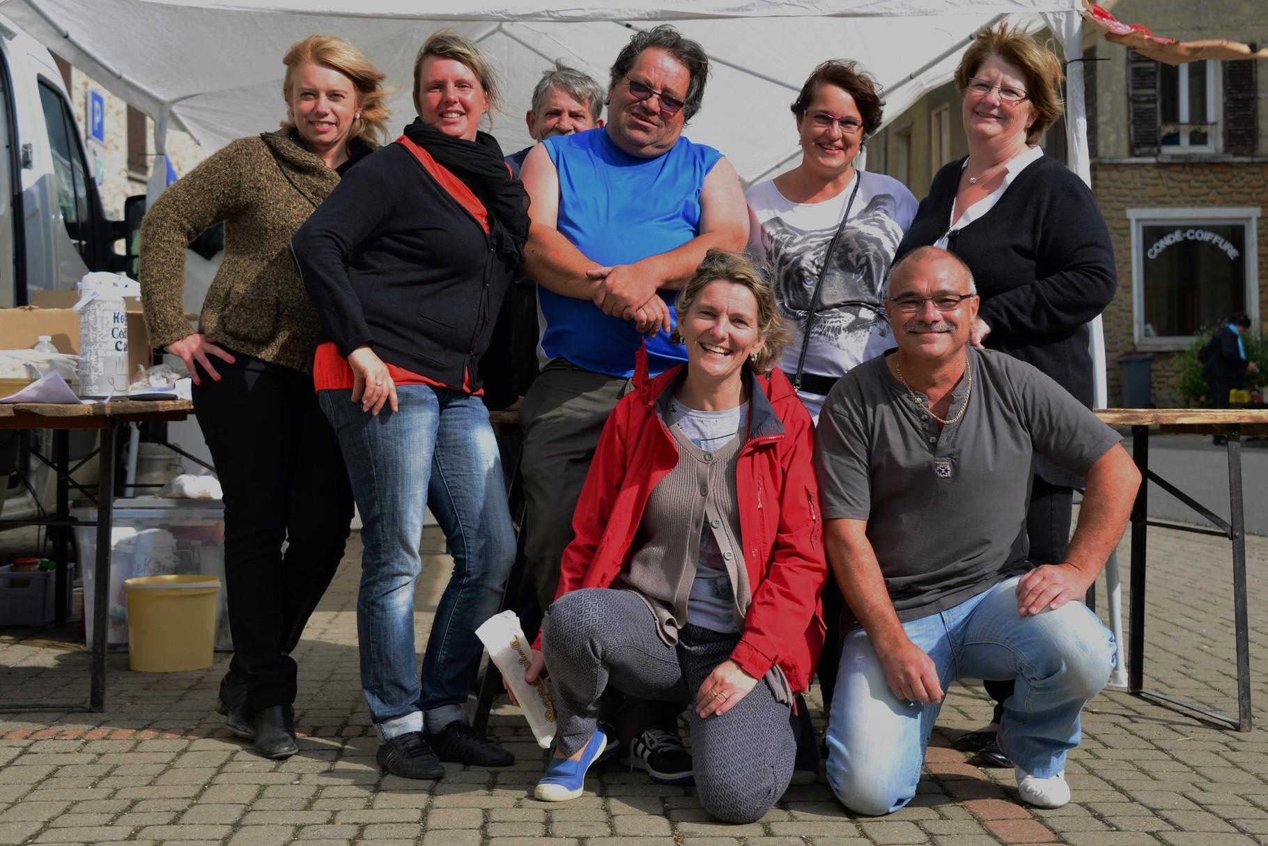 Brocante de Condé en Brie 13 septembre 2015 : l'équipe des organisateurs