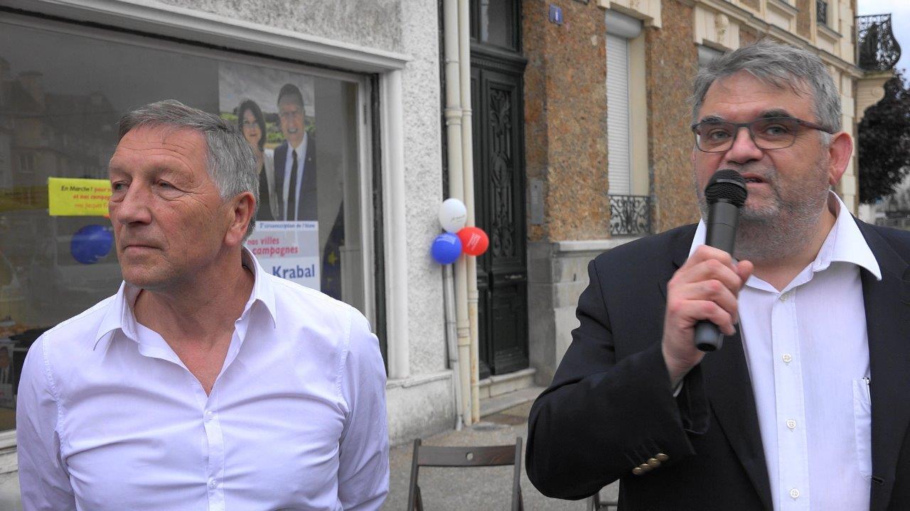 """Bruno Beauvois, 1er adjoint au maire de Château-Thierry, connaît Jacques Krabal """"depuis 2 décennies""""."""