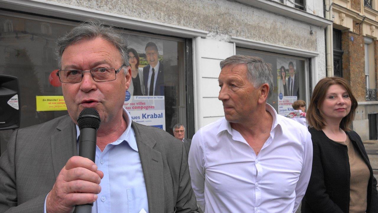 Georges Fourré, conseiller départemental (canton d'Essômes-sur-Marne), est un soutien de Jacques Krabal...