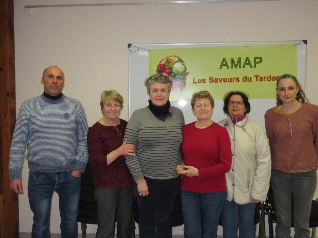 De gauche à droite : Benoît Périn, Claudine Fery, Catherine Berthelin, Évelyne Bernaille, Liliane Fouquet et Cynthia Monticelli.