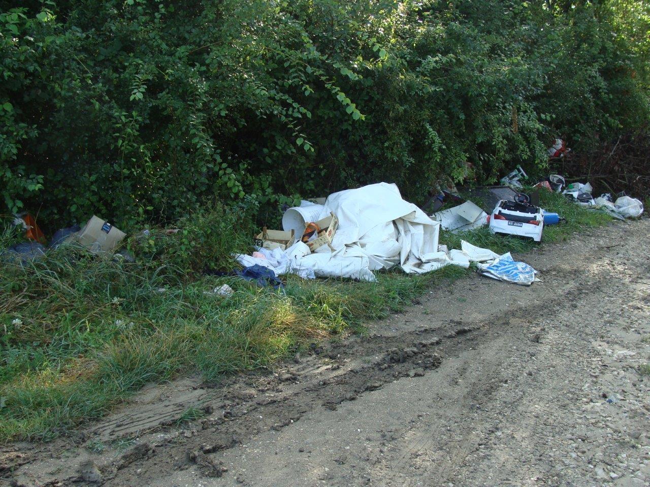Les déchets proviennent, en partie, des bennes de la déchèterie.