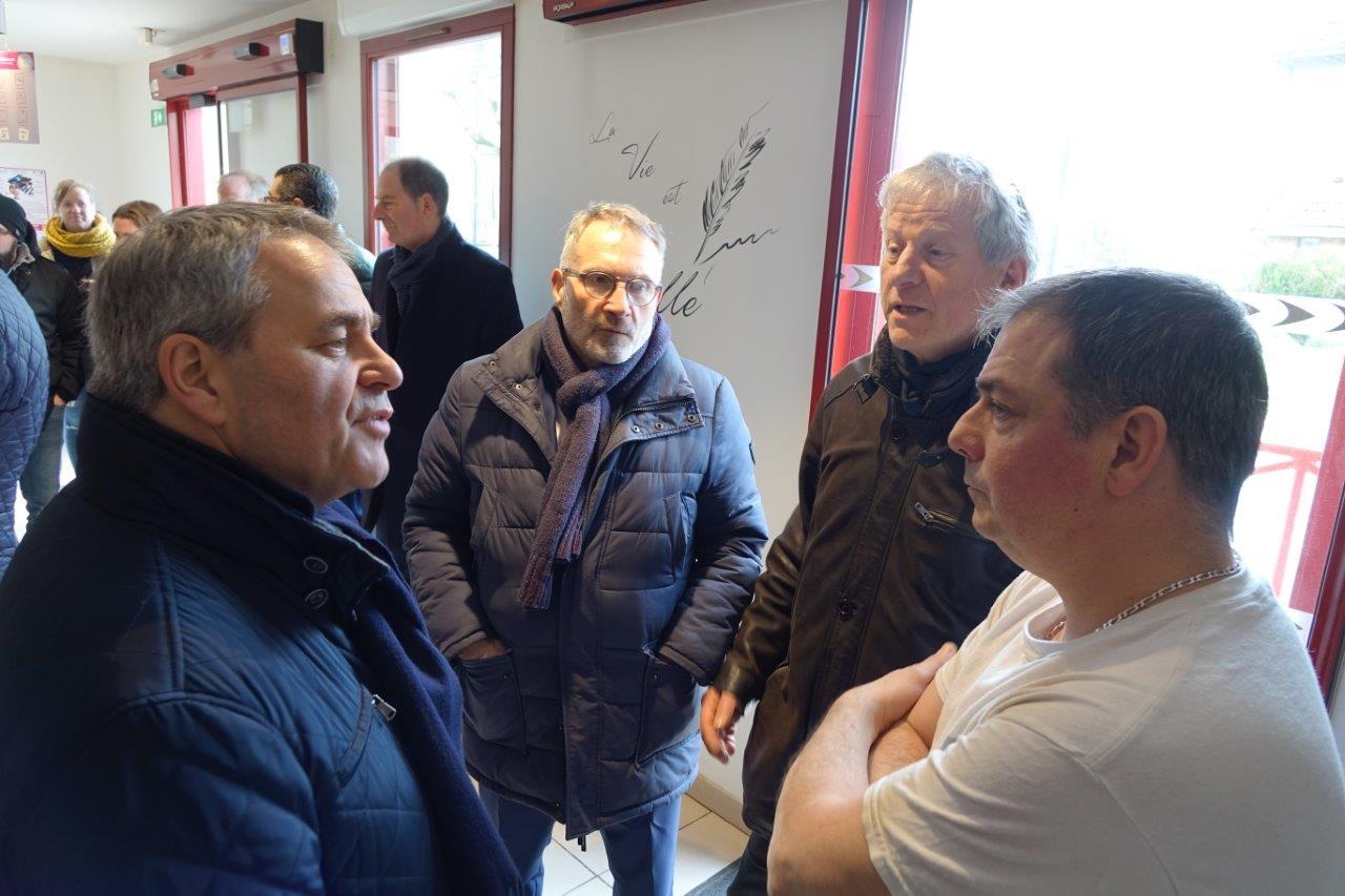 À droite : Thierry Caulier de la boulangerie Au Fournil de Condé Chez Manue et Thierry.