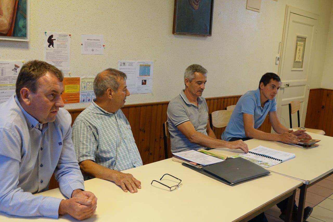 De gauche à droite : Olivier Picart, Bruno Lahouati, Olivier Coubronne et Alexandre Gobert.