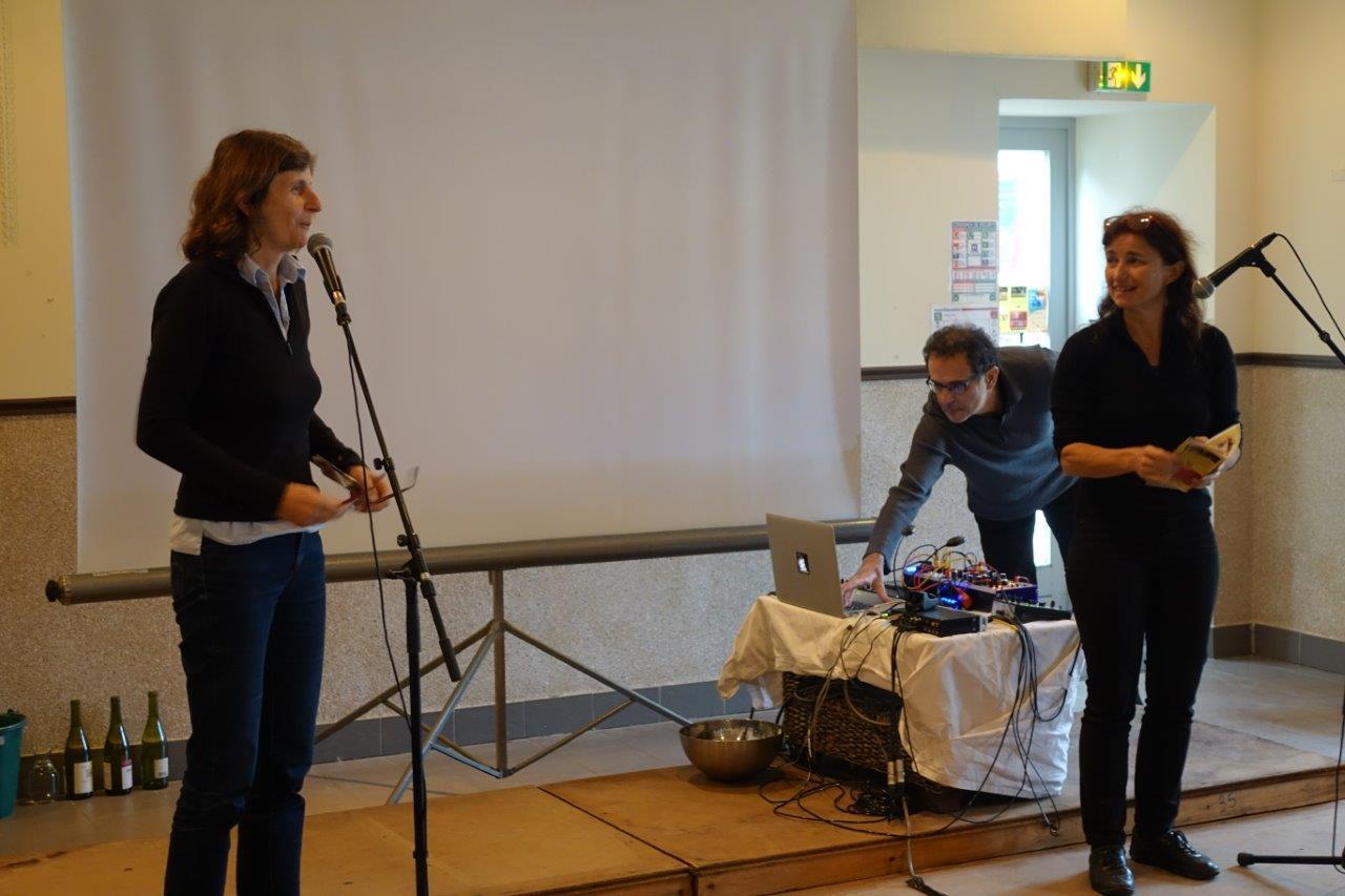 De gauche à droite : Olivia Rosenthal et Catherine Tambrun sont à l'initiative de la manifestation au sein d'Odon'Attitude, l'association porteuse de l'événement.