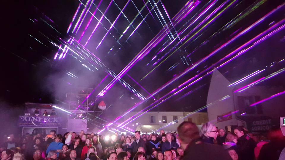 12'45 de show laser !