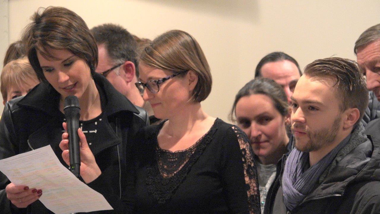 De g. à d. : Stéphanie Patiny, présidente du Comité des fêtes de Saint-Agnan et Nelly Triconnet, secrétaire de celui de Baulne-en-Brie.