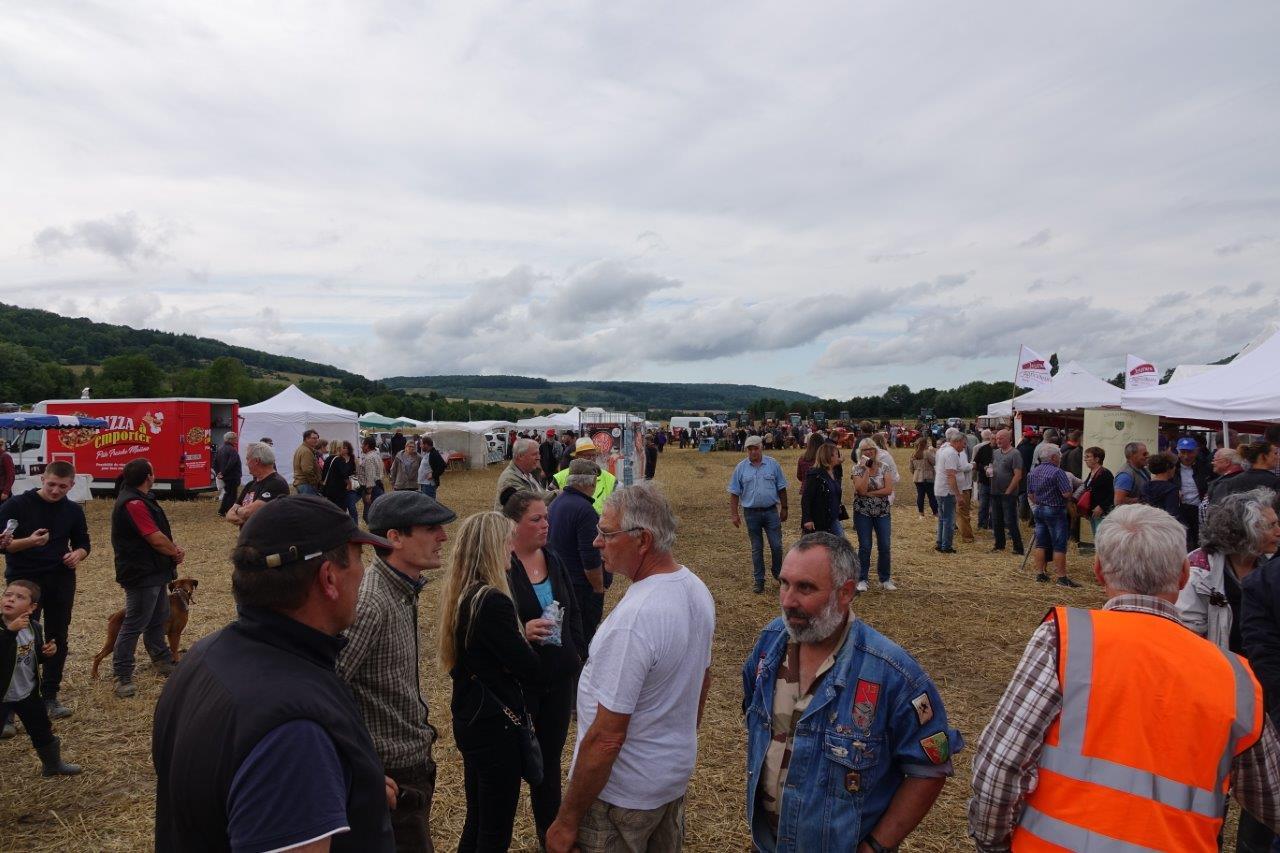 Une foule nombreuse a investi le site en début d'après-midi...