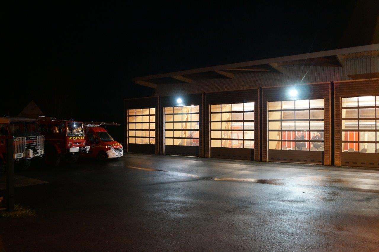 Trélou-sur-Marne (02). Le centre de secours...