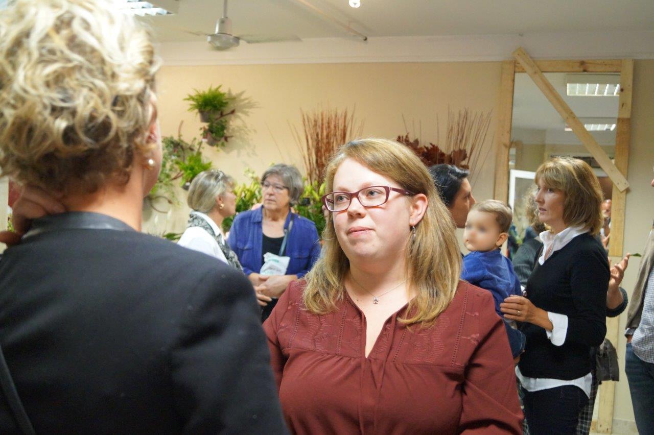 Sandra Soyeux était très sollicitée lors de l'inauguration.