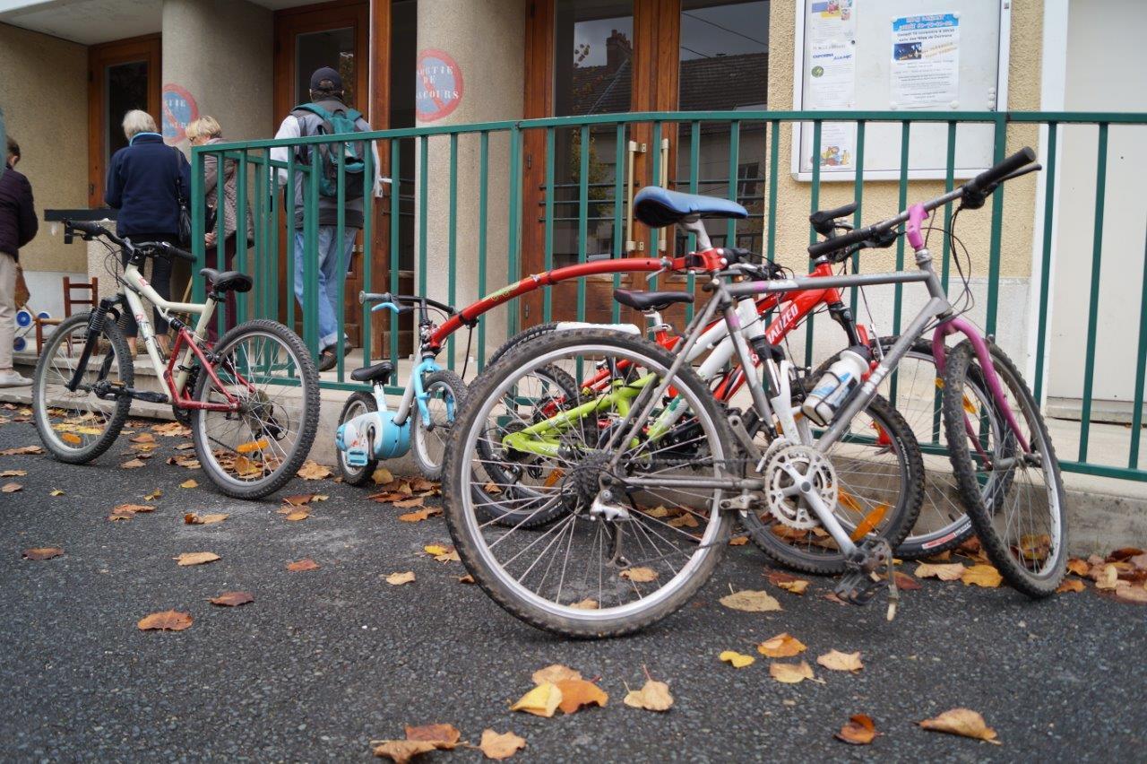 Les vélos de ces visiteurs n'étaient pas à vendre !