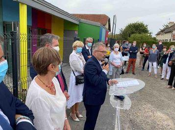 Inauguration du Centre multi-accueil de Vailly-sur-Aisne, avec financement du Conseil régional.