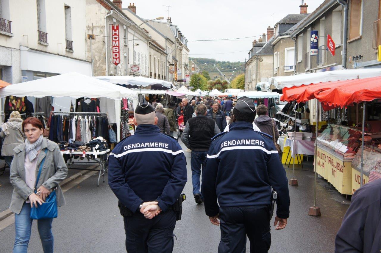 La Gendarmerie Nationale a rassuré les visiteurs tout au long de la journée.