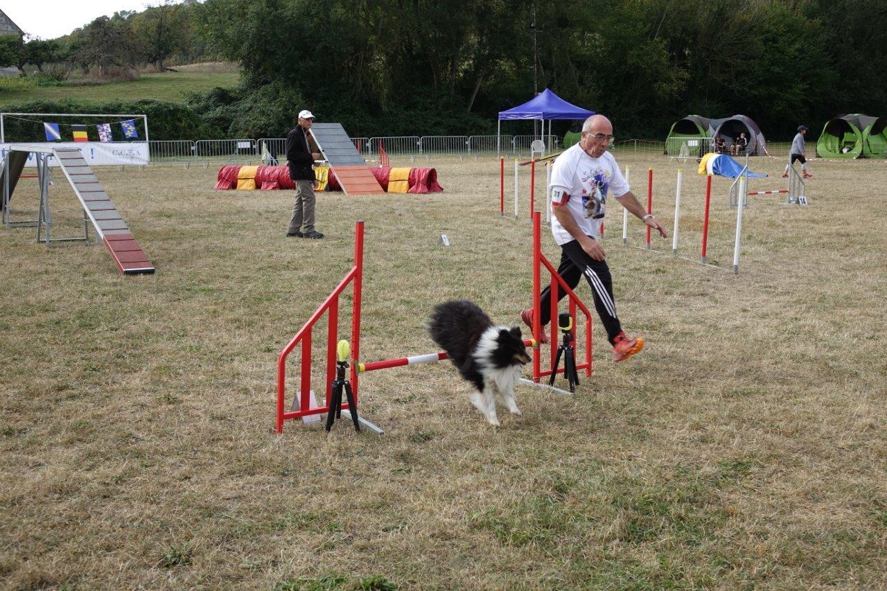 Le binôme maître guide-chien doit être en parfaite osmose pour réussir un beau parcours.