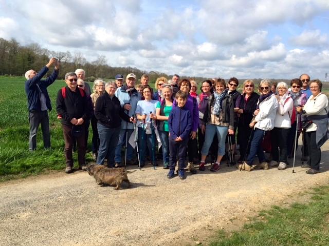 Pas moins de 40 participants ont sillonné le territoire profondément rural d'Igny-Comblizy dans la Marne...