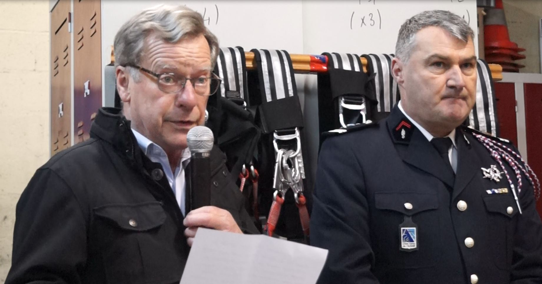 Jean-Marie Houdant, maire de Saint-Eugène, a rendu hommage  à la corporation des sapeurs-pompiers.