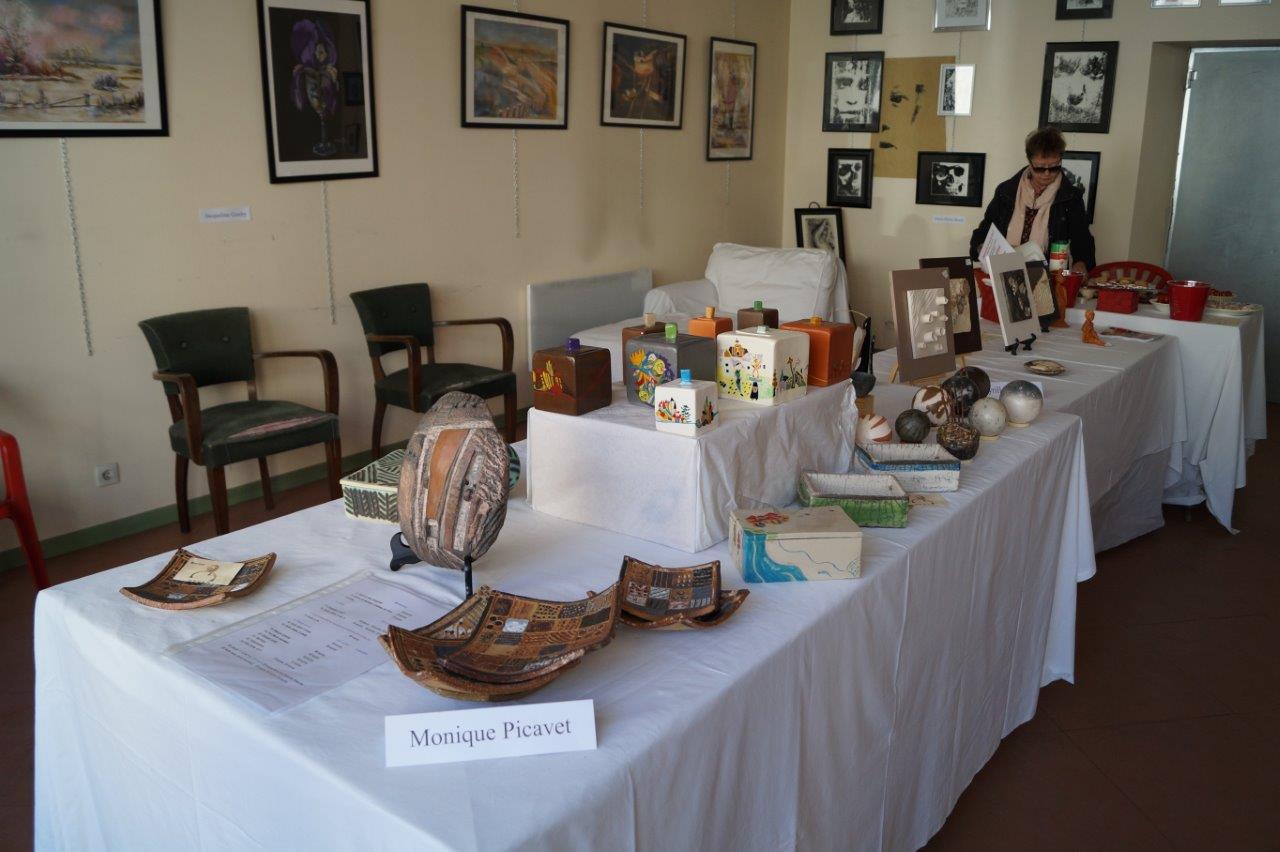 Au frais, une expo d'artistes sud axonais a rencontré également un beau succès.
