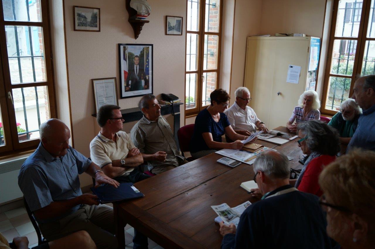 Les maires des trois communes et les membres de la Commission locale du Centenaire ont présenté le projet de commémoration à la presse sud axonaise.