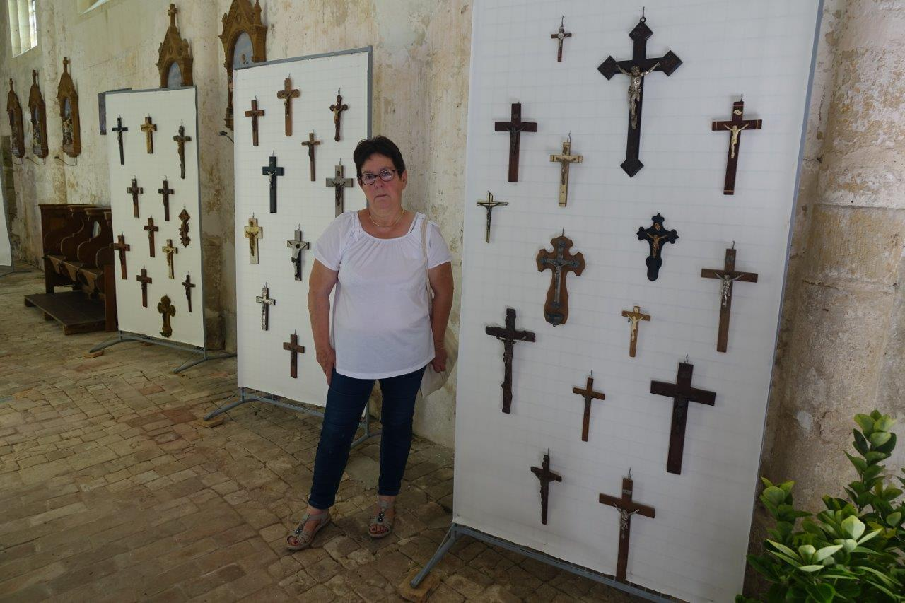 Nelly Guedrat, présidente de l'association des Amis de l'église Saint-Martin de Montlevon et maire de Montlevon.