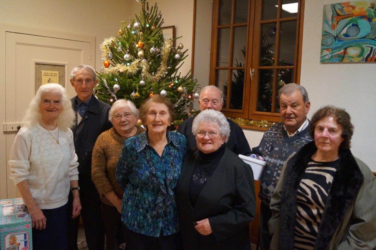 Le Noël communal est toujours un moment très apprécié par les seniors.