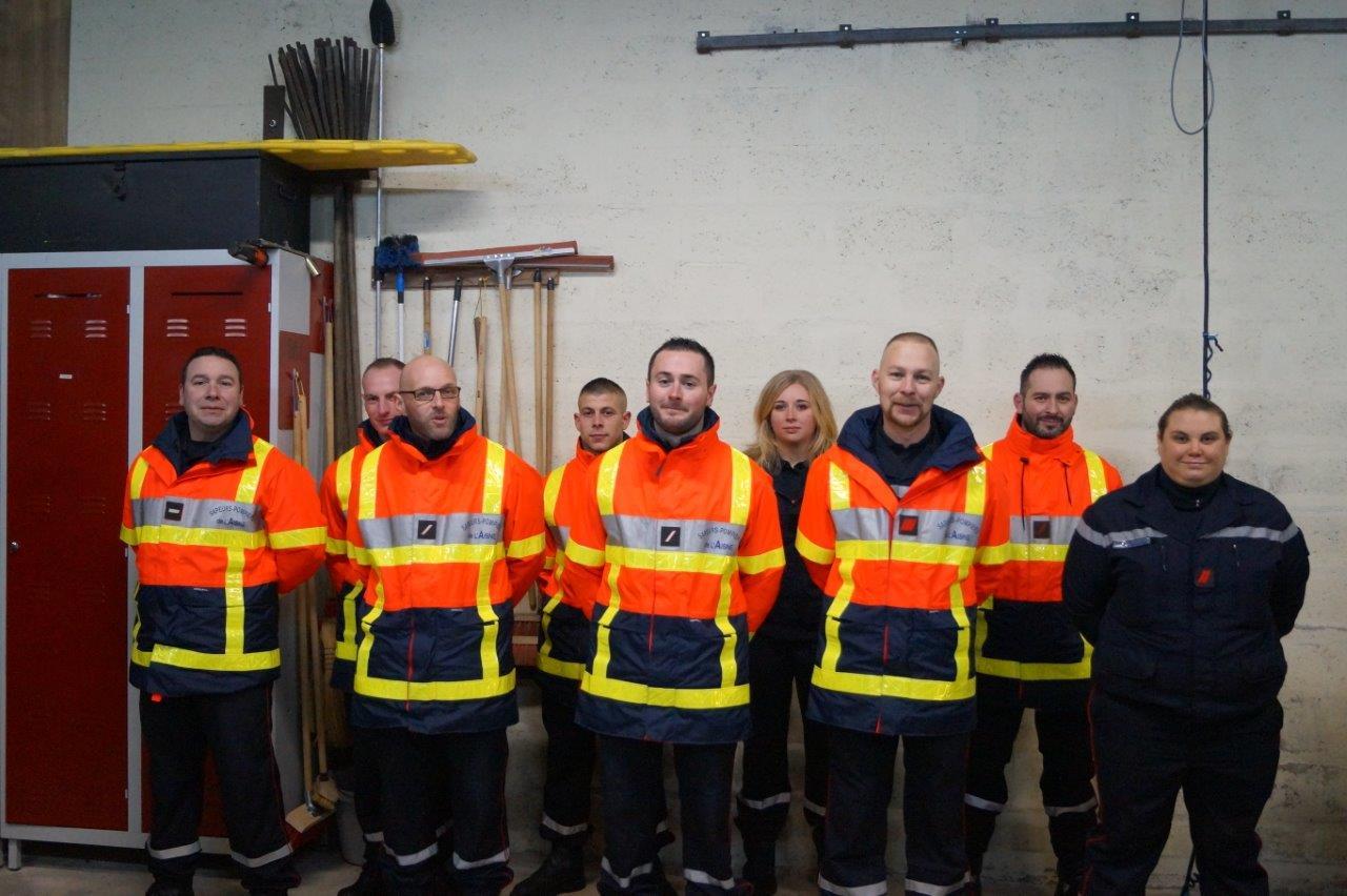 Les sapeurs-pompiers de Saint-Eugène.