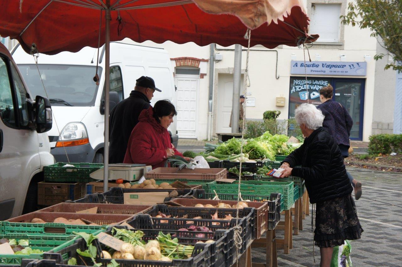 Produits locaux et de saison faisaient partie des étals.
