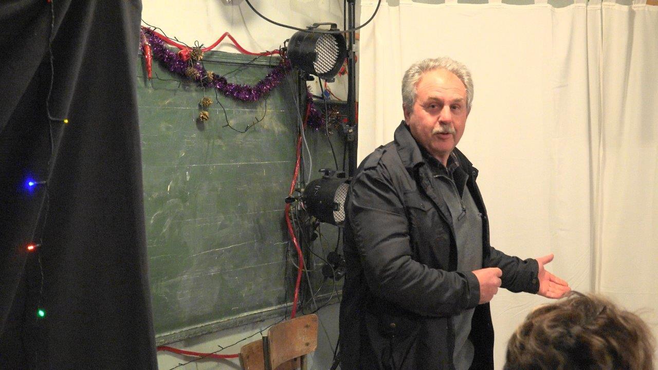 Georges Verdooalaeghe a accueilli les participants au spectacle de Noël.
