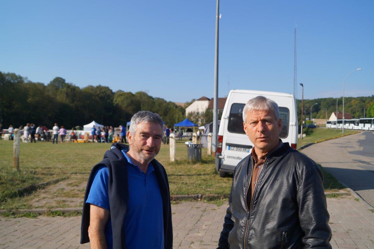 de gauche à droite : Christian Roux, président du CCSA et Eric Assier, maire de Condé-en-Brie.
