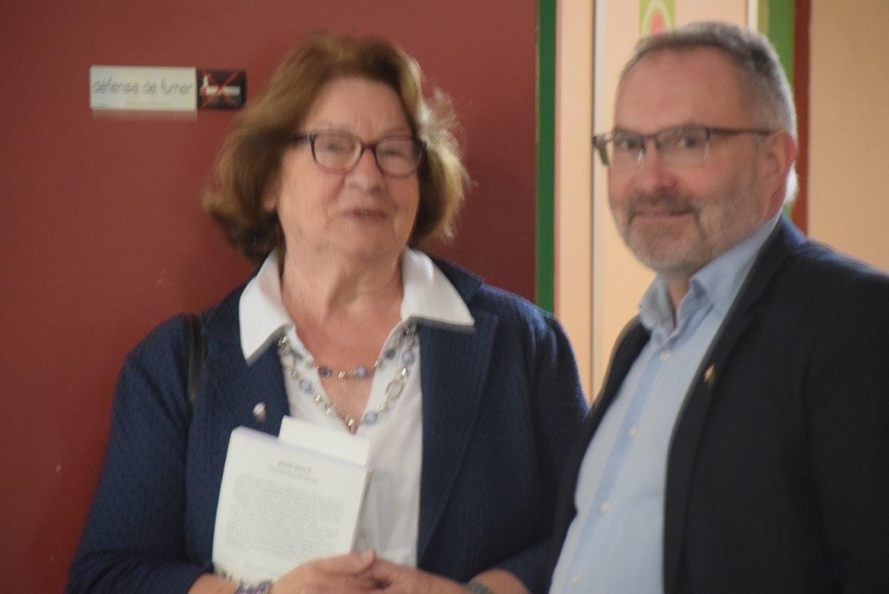 A droite : Dominique Moyse, vice-président de la Commission Rayonnement au sein du Conseil régional Hauts-de-France.