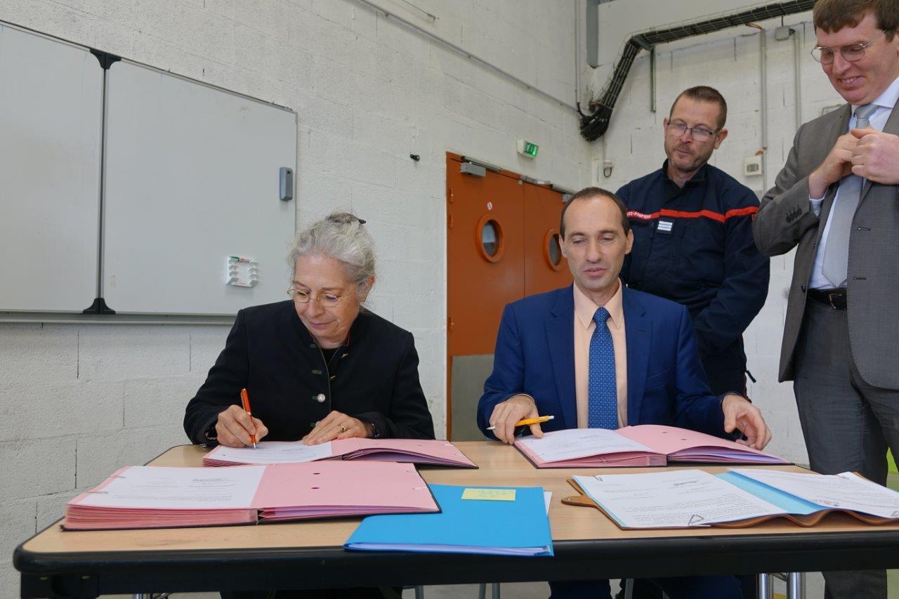 De gauche à droite : Odile Bureau et Arnaud Moucaud.