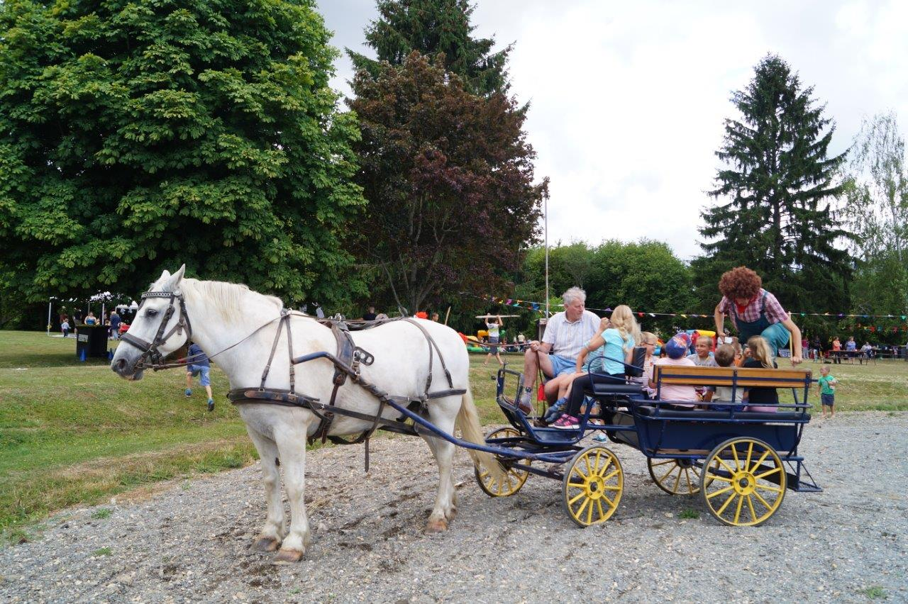 Elle en a fait des kilomètres ! La calèche d'Edgar Vervaet, maire du village voisin de Montlevon, a été prise d'assaut.