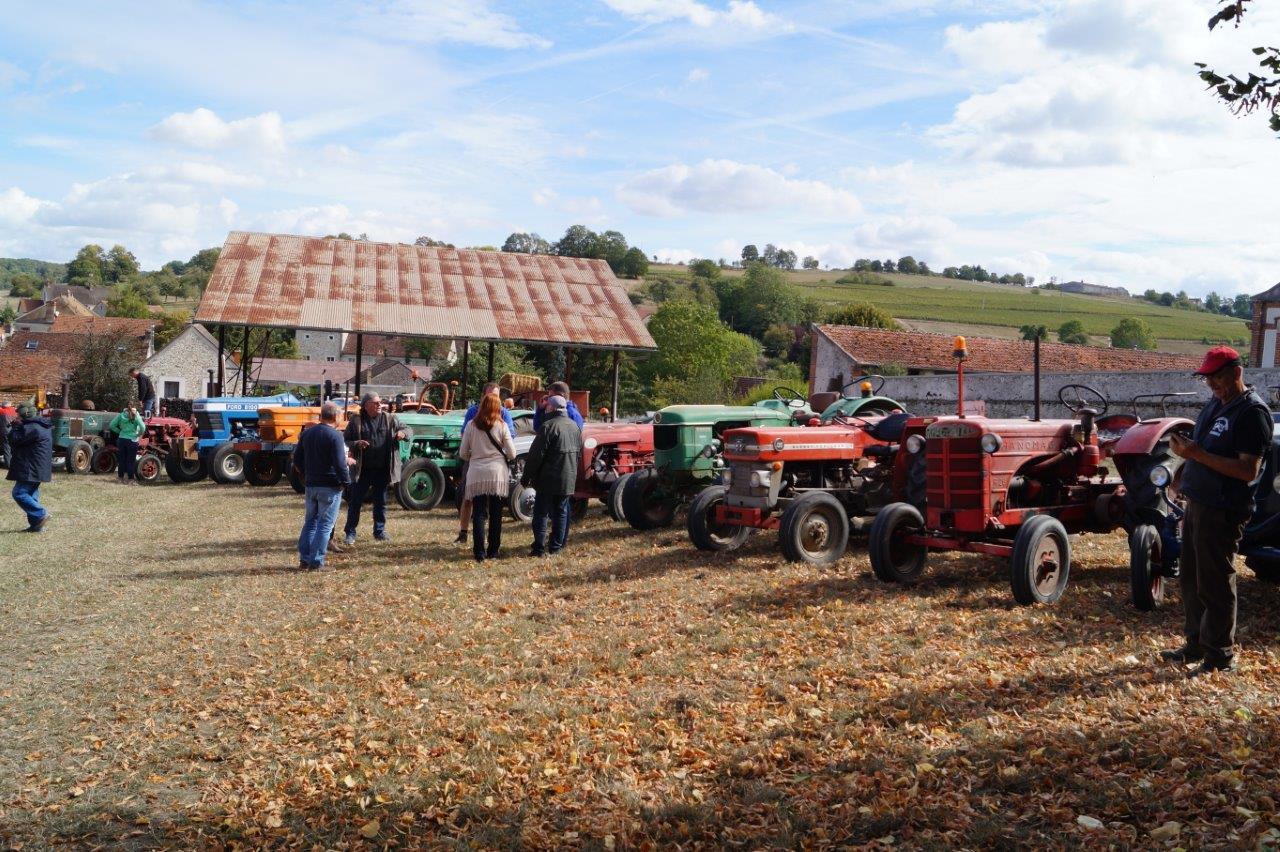 A La Chapelle-Monthodon, les collectionneurs de tracteurs anciens du coin se retrouvent pour une randonnée à travers la campagne...