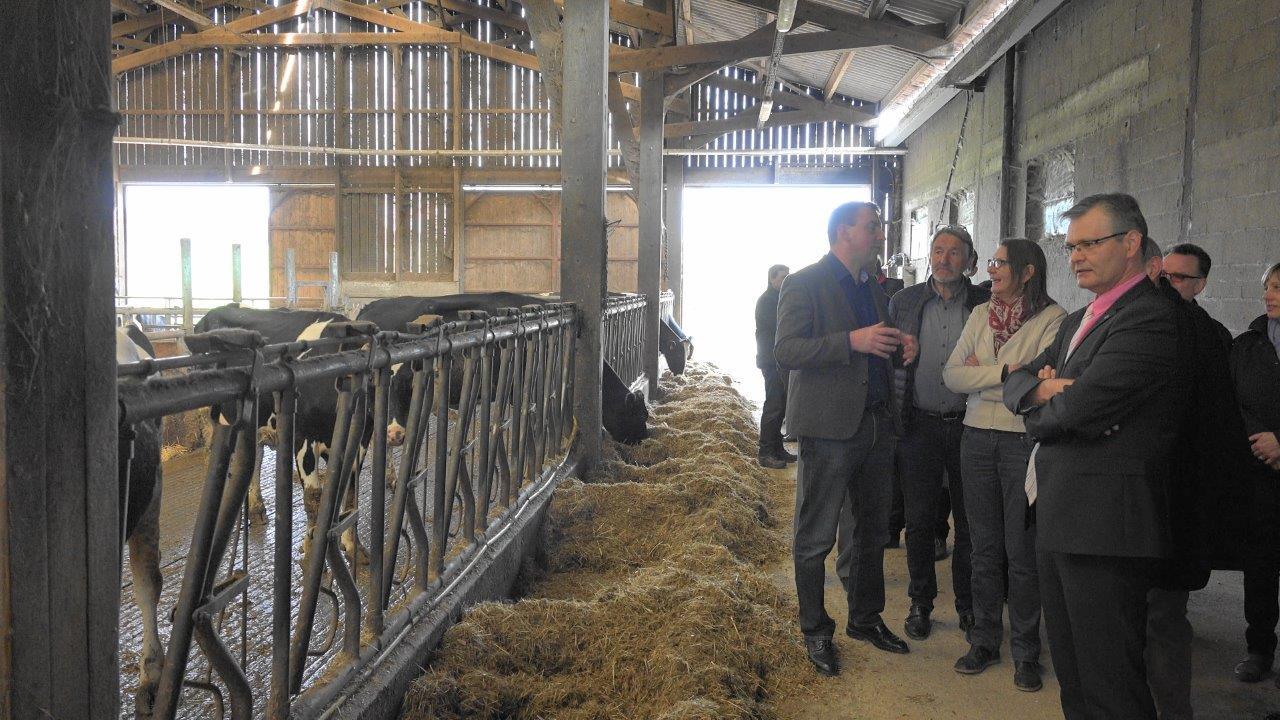 La traite des 60 vaches laitières est assurée par un robot fonctionnant 24h/24.